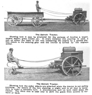 An advertisement for the Detroit Tractor Company in the Automobile Trade Journal, July 1913. Public domain, via Wikimedia Commons