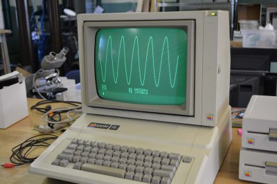 The Apple II one-liner SIN graph