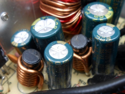 Filter inductors in an ATX PSU