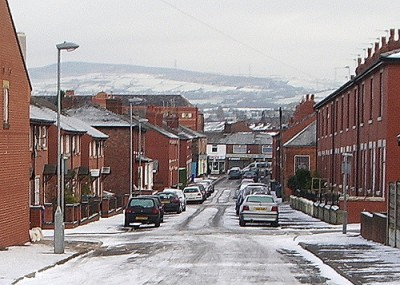 Hyde, Greater Manchester. The incident should be somewhere towards the hills in the background. Smabs Sputzer (CC BY 2.0) vial Flickr.