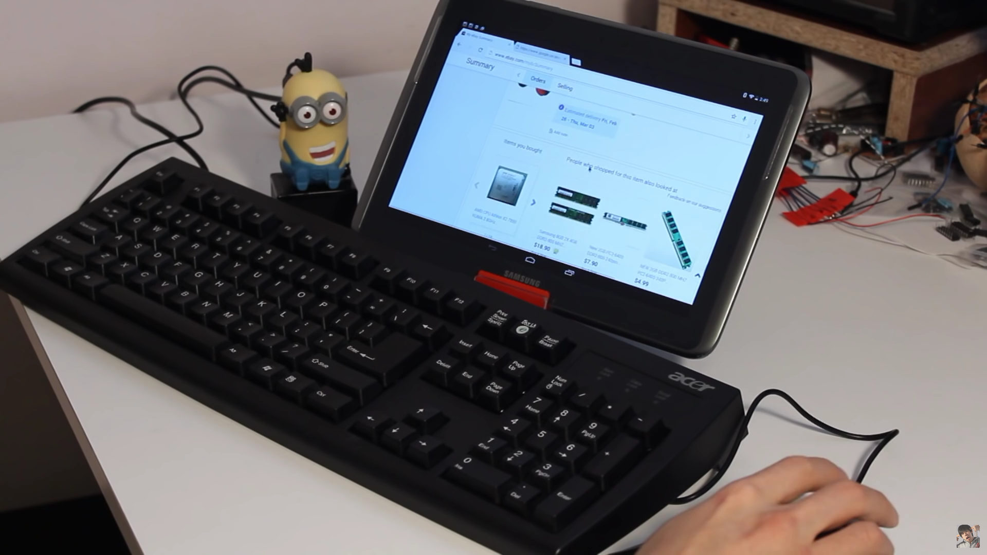 minions turn your keyboard into a bluetooth keyboard hackaday. Black Bedroom Furniture Sets. Home Design Ideas