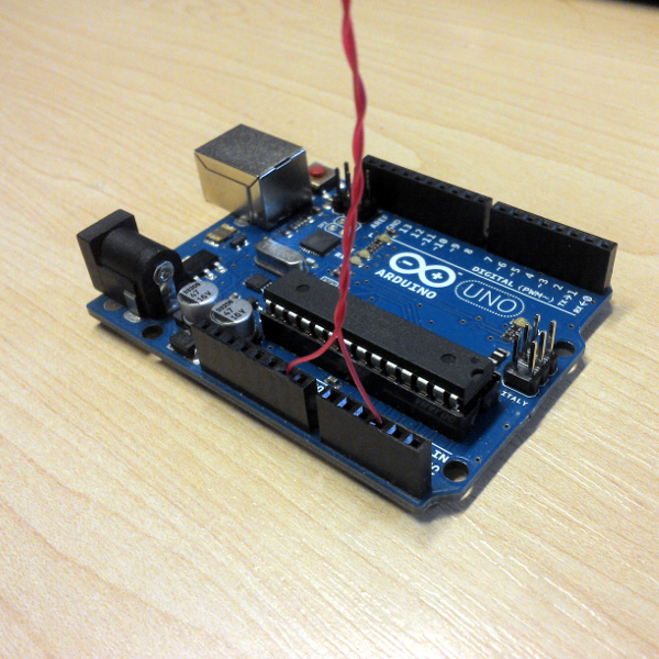 Arduino Motion Detection With A Bit Of Wire | Hackaday