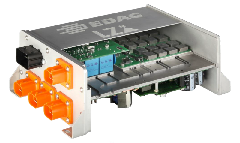 This power electronics enclosure utilizes 3D-printed cooling plates to maximize cooling efficiency in constrained spaces. Source: Erfolgreiche 3 D Druckindustrialisierung durch hybride Fertigungsmethoden und Bionic Production