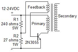 Flyback single transistor schematic