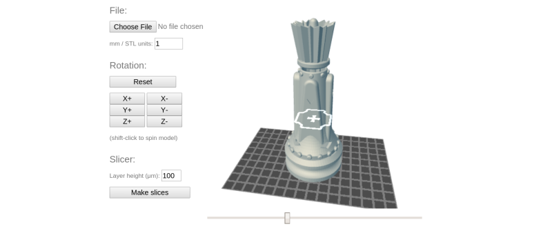Open Source SLA Printer Software Slices From The Browser