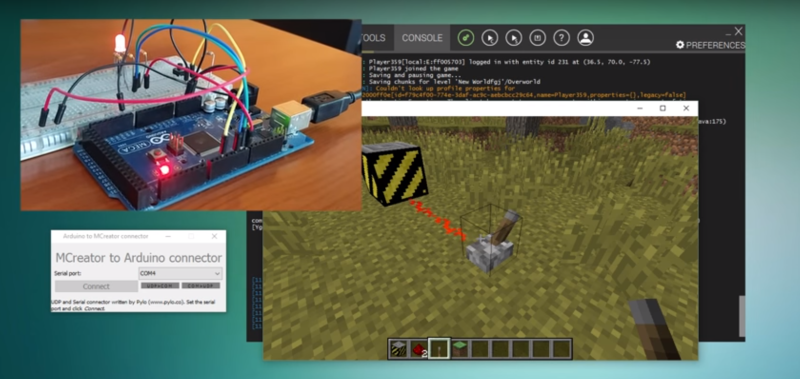 Control The Real World With An Arduino-Enabled Minecraft Mod