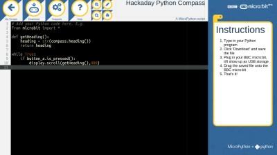 The micro:bit Python editor
