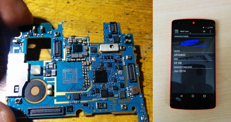 Upgrading A Nexus 5 EMMC To 64GB | Hackaday