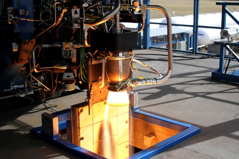 3D-printed Super Draco rocket engine, source: SpaceX, 2014