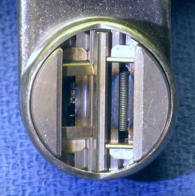 Dual-filament cathode cup. The smaller focal-point filament has seen better days. Source: Samuel M. Goldwasser