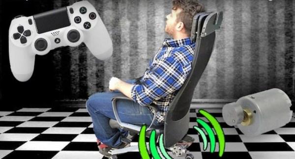 Vibrating gaming chair