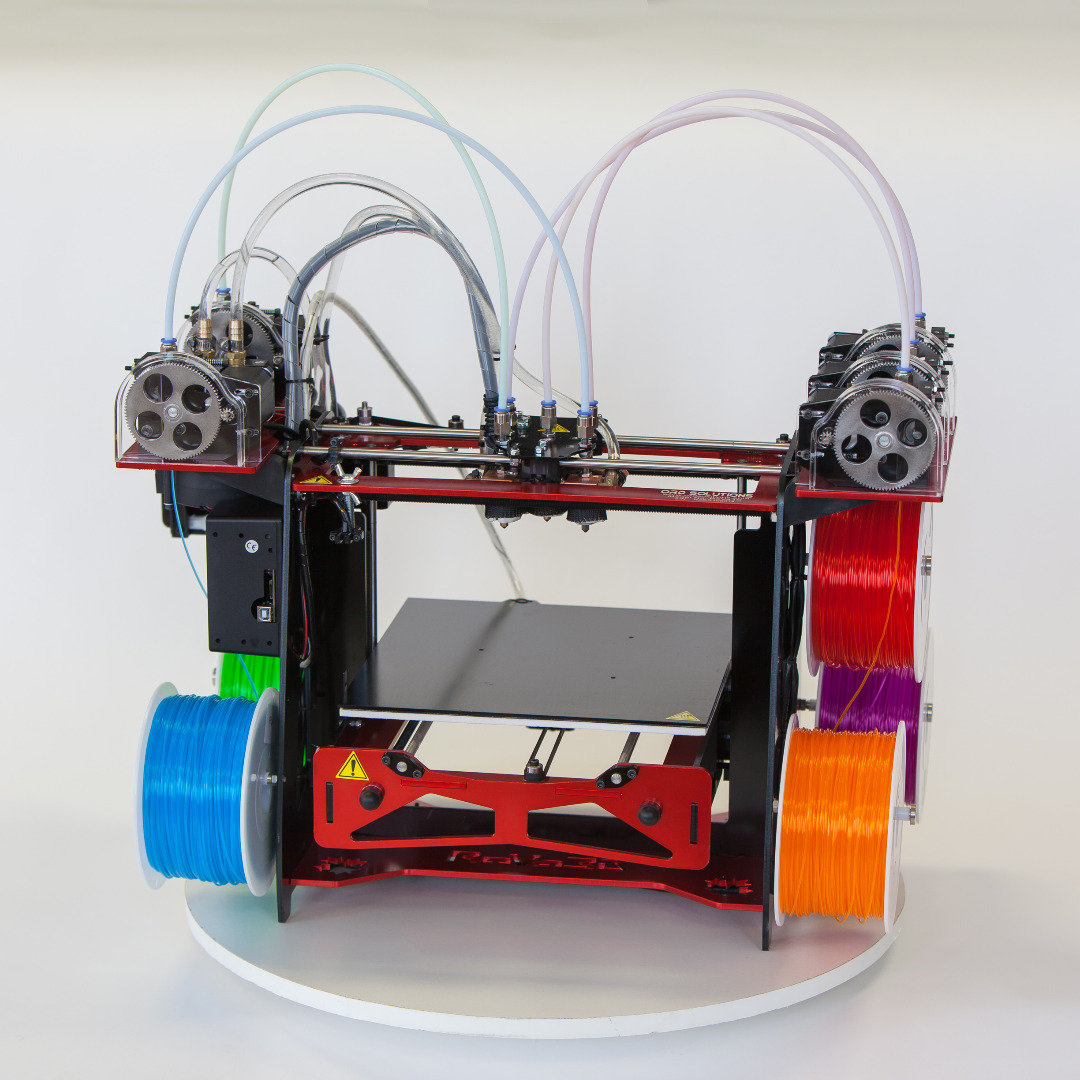 Mosaic Palette: Single Extruder Multi-Color And Multi-Material 3D Printing