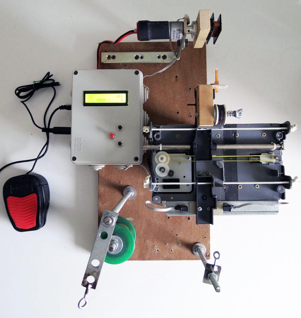 cnc upgrade to guitar pickup winding machine hackaday. Black Bedroom Furniture Sets. Home Design Ideas
