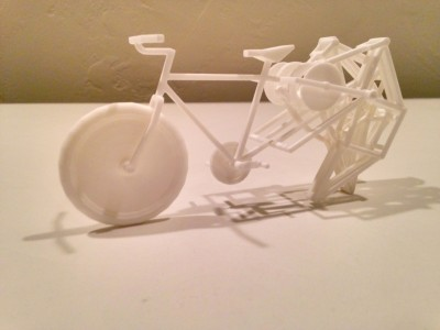 3D printed strandbeest bike proof of concept