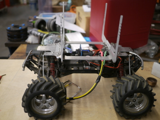 RC strawberry carrying robot before putting on the cooler