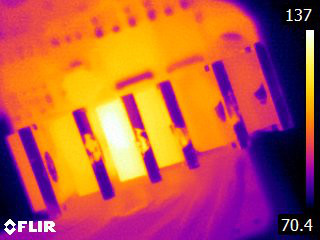 Thermal image of bad MOSFET