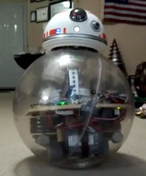 Wayne Neumaier's BB-8 during testing
