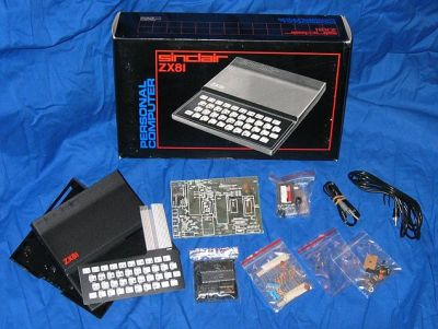 The kit version of the Sinclair ZX81 microcomputer. By Smaddison (Own work) [CC BY-SA 3.0], via Wikimedia Commons.