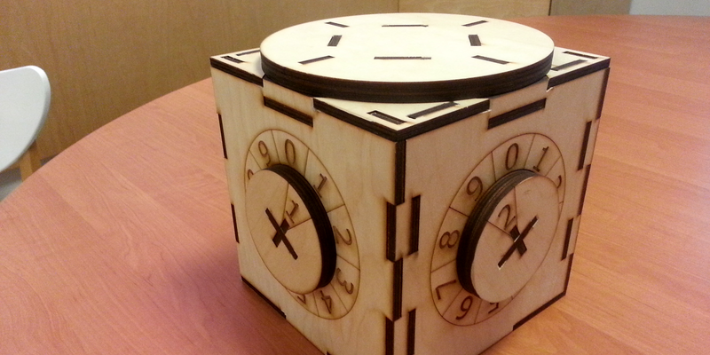 Have A Laser Cutter? Here's A Cool Combination Lock Box You