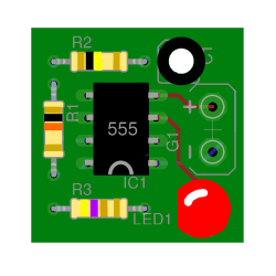 A mockup of our 555 LED flasher
