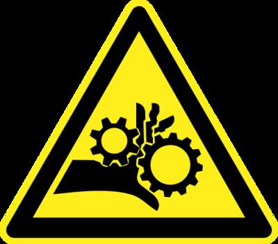 pinch point warning