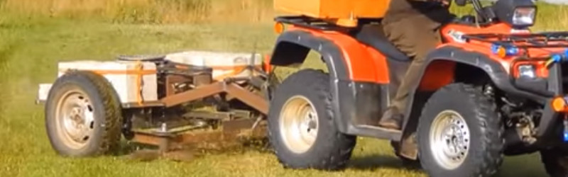 This Motorless Pull-Behind Mower Is Made From Junk   Hackaday