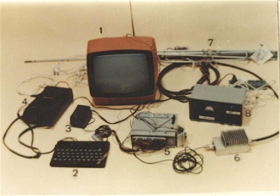 Transmission equipment seized by the Polish police.