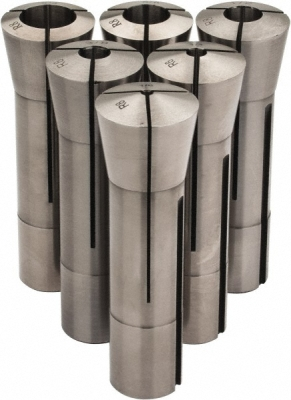 A set of R8 collets for a variety of shank diameters (photo courtesy of Enco)