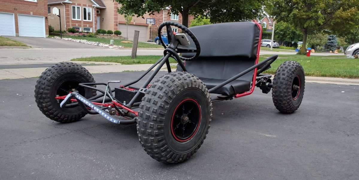 chinese dune buggy wiring diagram alternator becomes motor for this electric go kart hackaday  alternator becomes motor for this electric go kart hackaday