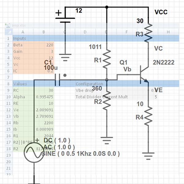 Optimizing The Spread: More Spreadsheet Circuit Design