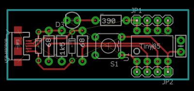 Attempt no. 1 at routing a board.
