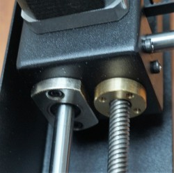Threaded rod and linear bearings.