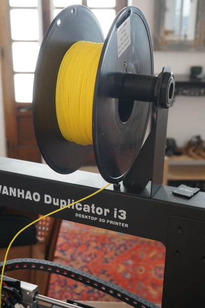 The build in spool holder works well. It's a nice feature. Weirdly, the plastic piece was turned on a lathe, not molded..