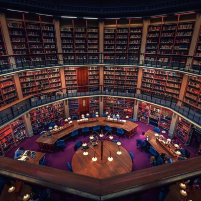 The Round Reading Room of King's College London's Maughan Library. Image via Wikipedia