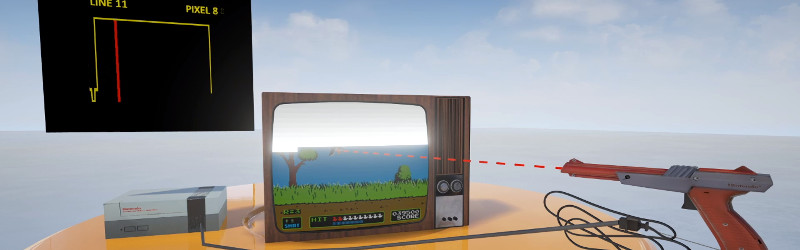Tricking Duck Hunt To See A Modern LCD TV As CRT | Hackaday
