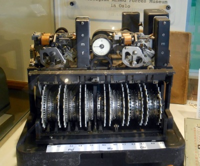 The genuine Lorenz machine at Bletchley, on loan from the Norwegian Armed Forces Museum. The codebreakers did not see one of these machines until the end of the war, which is why we have placed this picture at the bottom of our write-up.