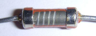 Carbon film resistor internals