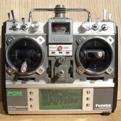 An old Futaba radio outfitted with AR Uni electronics. Image source: vikar