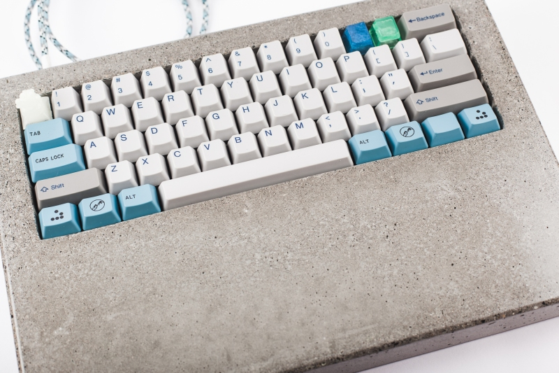 Custom Keyboard Makes The Case For Concrete | Hackaday