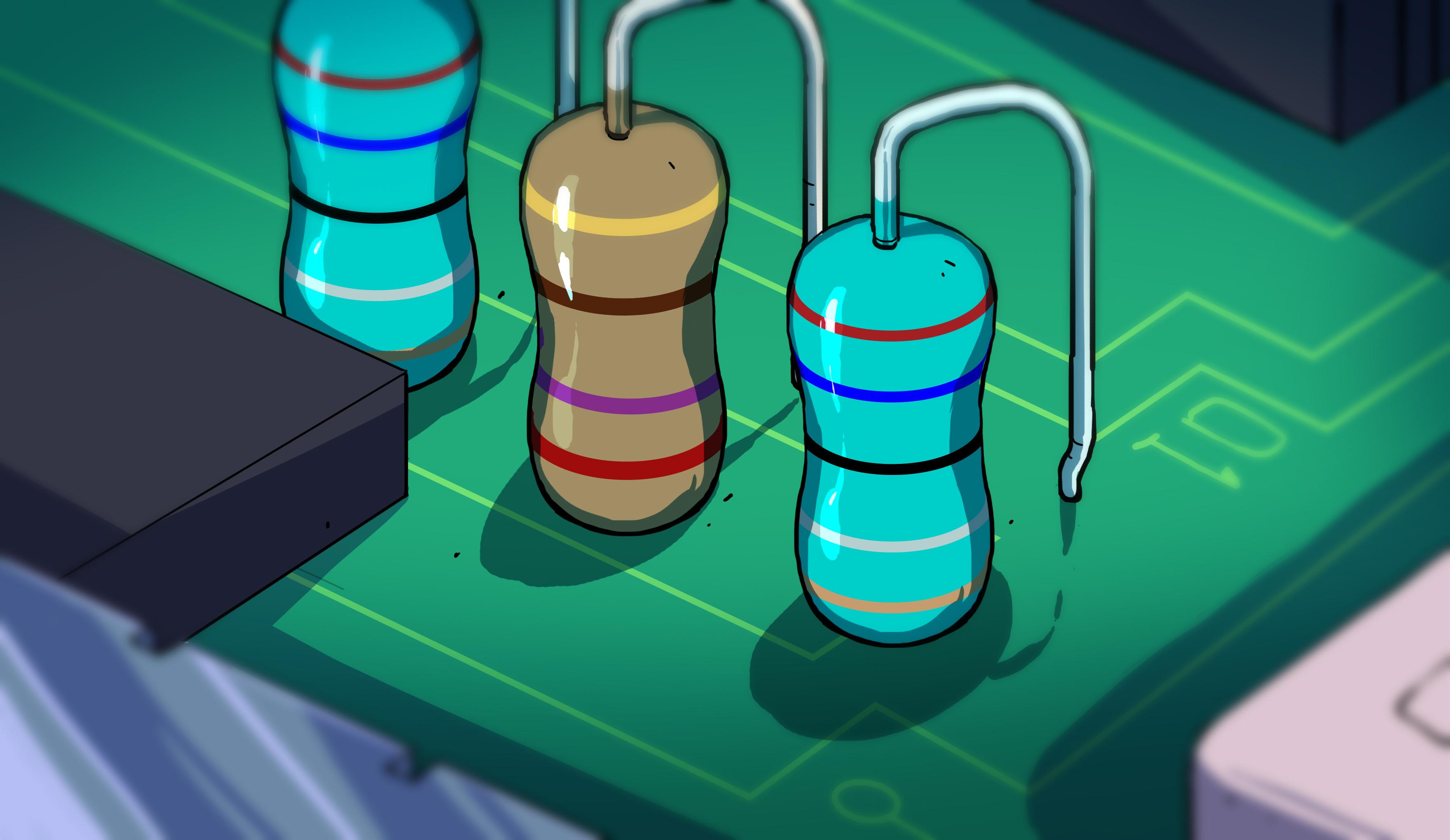 carbon composition resistors lot//25 5/% 2W 15 ohms