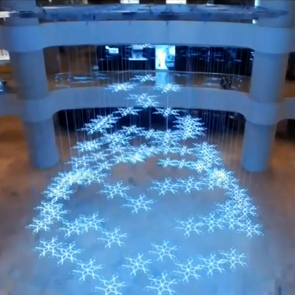 SIM Card Connectors And White PCBs Make Huge LED Snowflakes