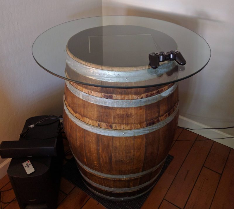 Classing Up A Retropie Arcade With A Wine Barrel Hackaday
