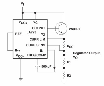The datasheet's 723 suply with external pass transistor and current limit.