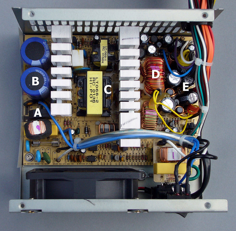 not quite 101 uses for an atx power supply hackadaya typical atx psu interior alan liefting (own work) [public domain]