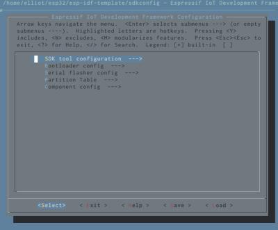 esp32-menuconfig