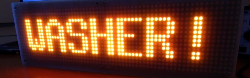 64×16 LED MQTT Laundry Display | Hackaday
