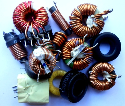 Just a selection of ATX power supply magnetics and cores.