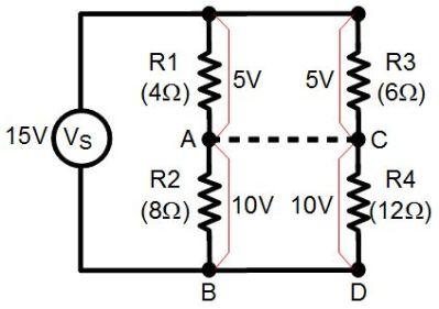 Balanced series resistors