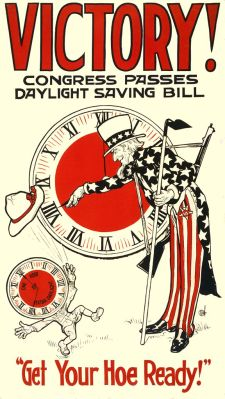 1918 poster - US Congress passes DST