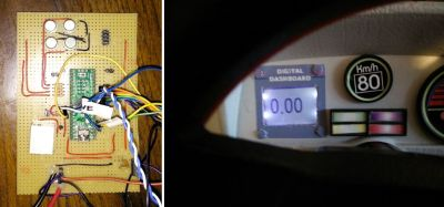 Teensy board and speedometer LCD display